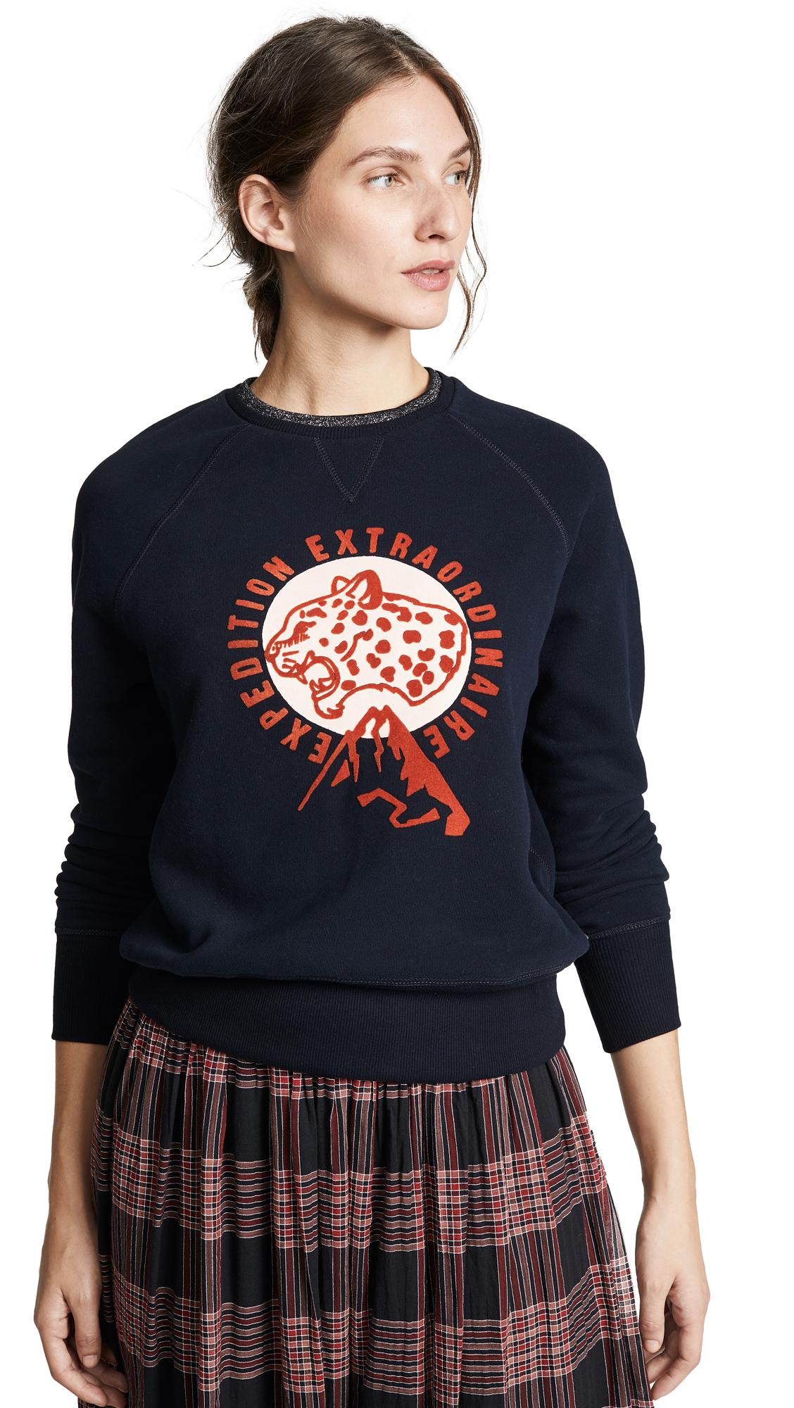 SCOTCH & SODA/MAISON SCOTCH Raglan Tiger Sweater in Night