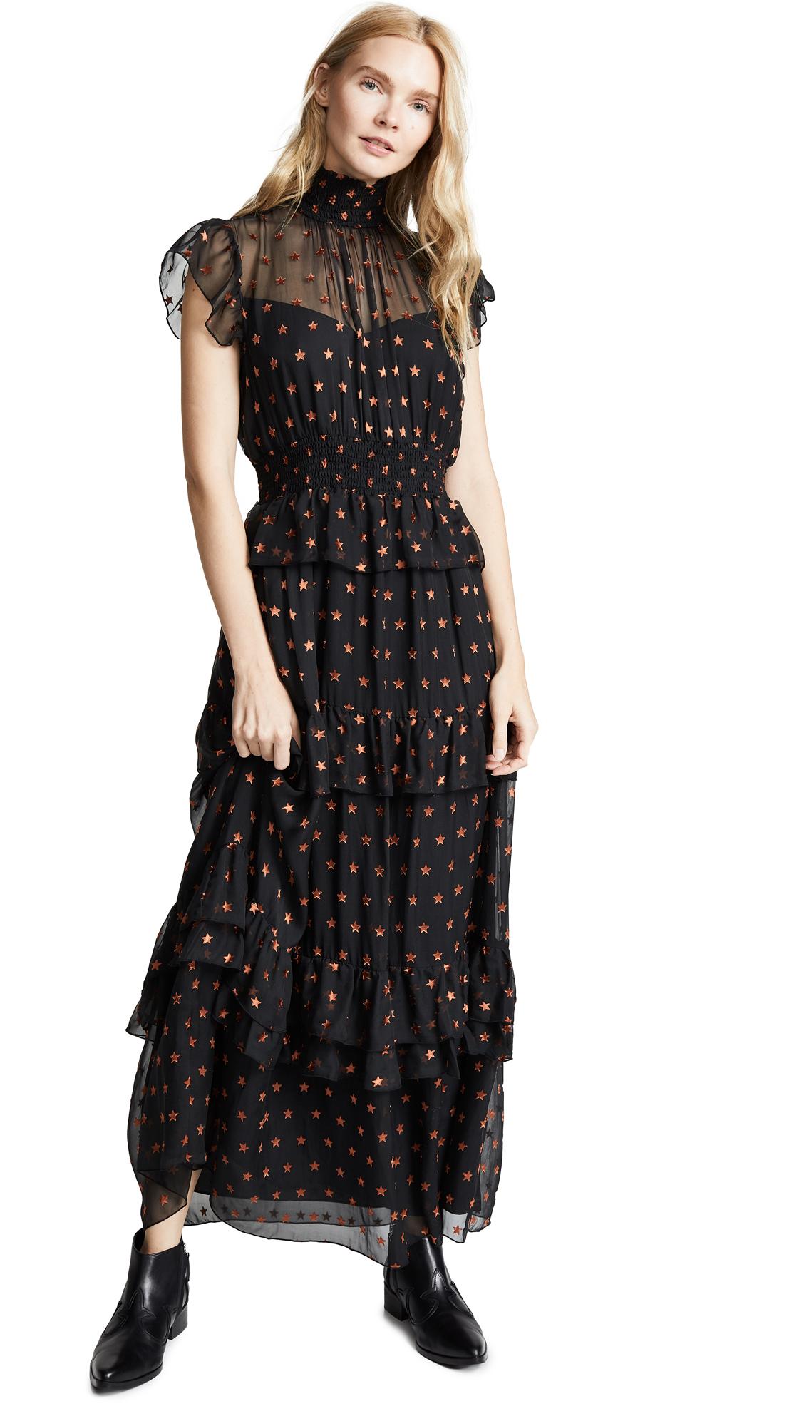 SCOTCH & SODA/MAISON SCOTCH High Neck Maxi Dress in Combo S