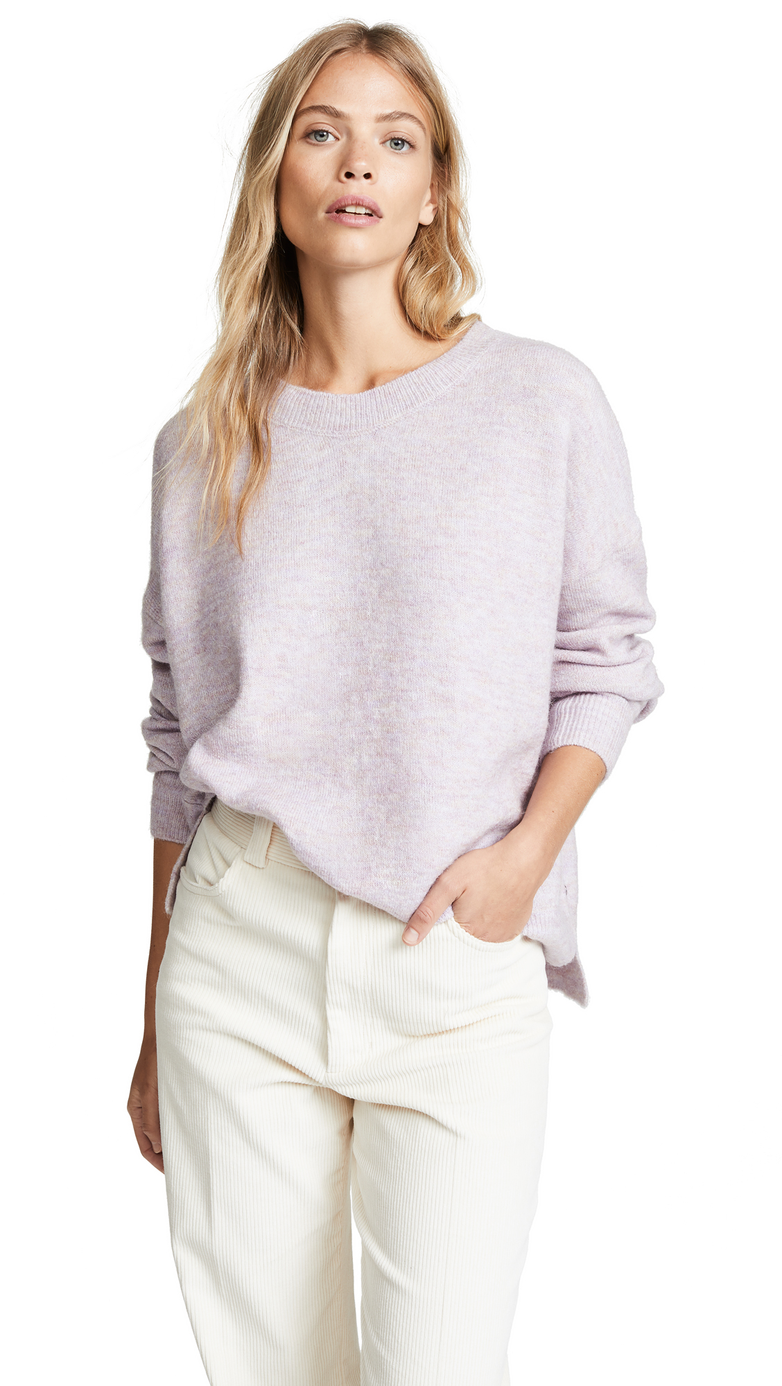 SCOTCH & SODA/MAISON SCOTCH Basic Crew Sweater in Lilac Melenge