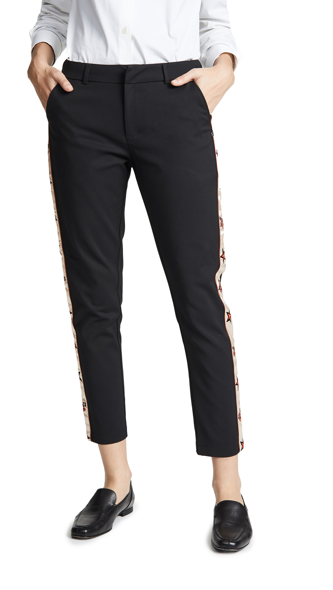 Scotch & Soda/Maison Scotch Side Embroidered Tailored Pants In Black