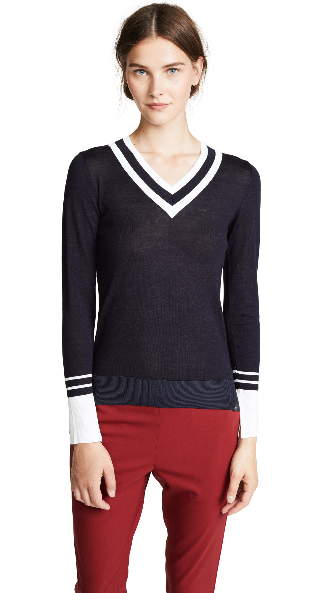 SCOTCH & SODA/MAISON SCOTCH V NECK KNIT TOP