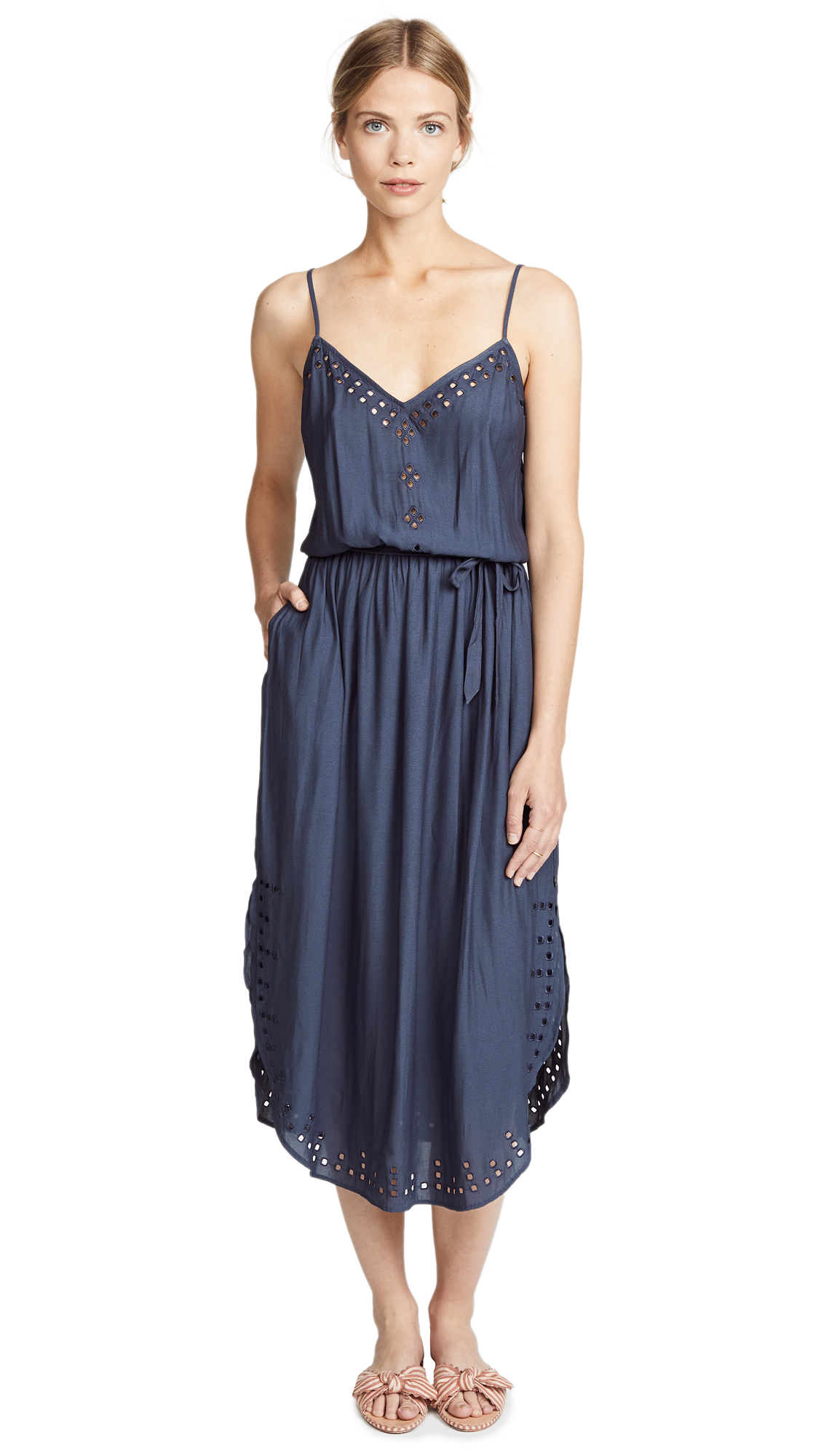 Scotch & Soda/Maison Scotch Strappy V Dress In Night