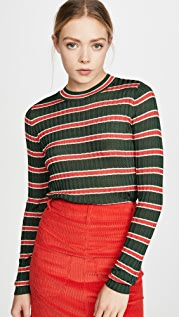 Scotch & Soda/Maison Scotch Striped Rib Knit Sweater