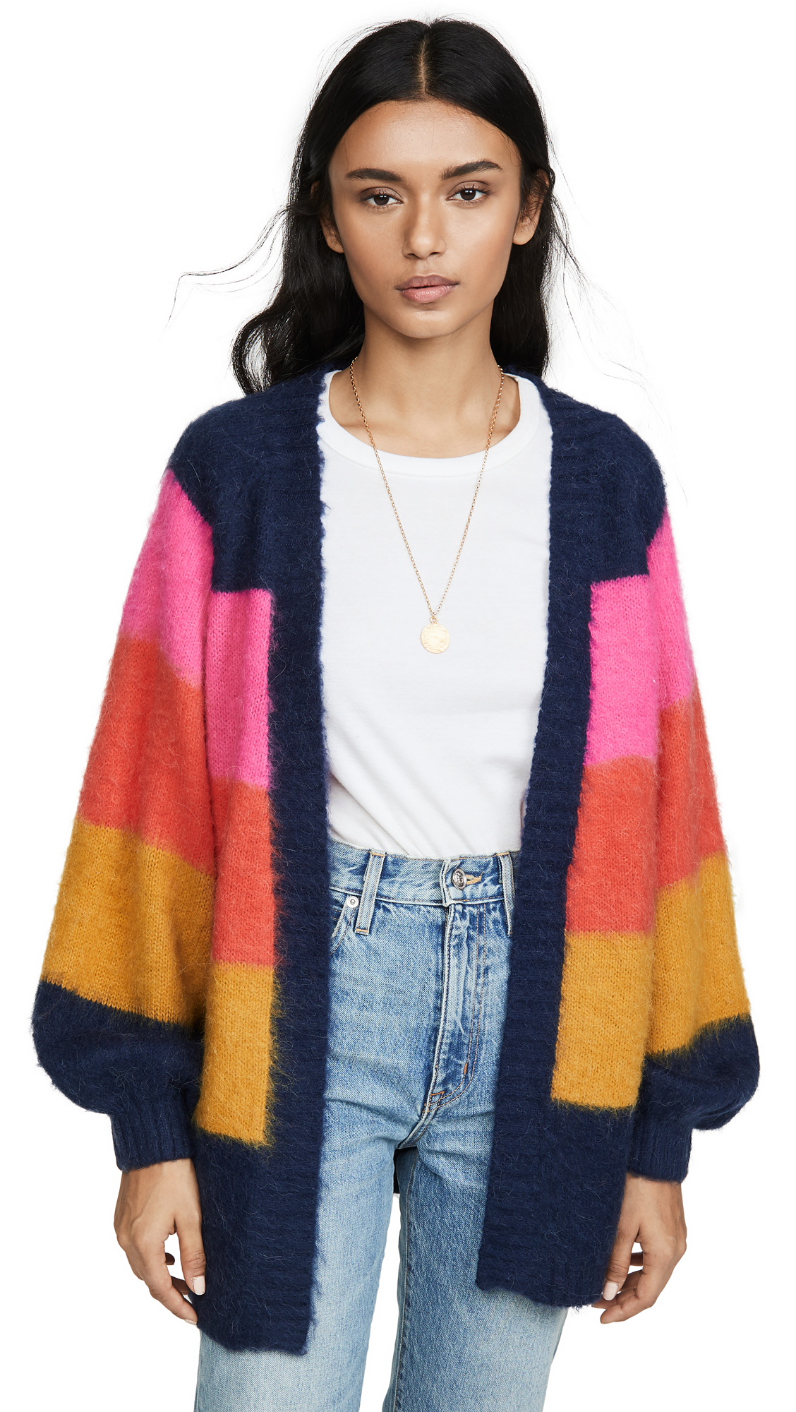 Buy Scotch & Soda/Maison Scotch online - photo of Scotch & Soda/Maison Scotch Brushed Colorful Striped Cardigan