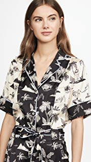 Scotch & Soda/Maison Scotch Printed Hawaiian Top