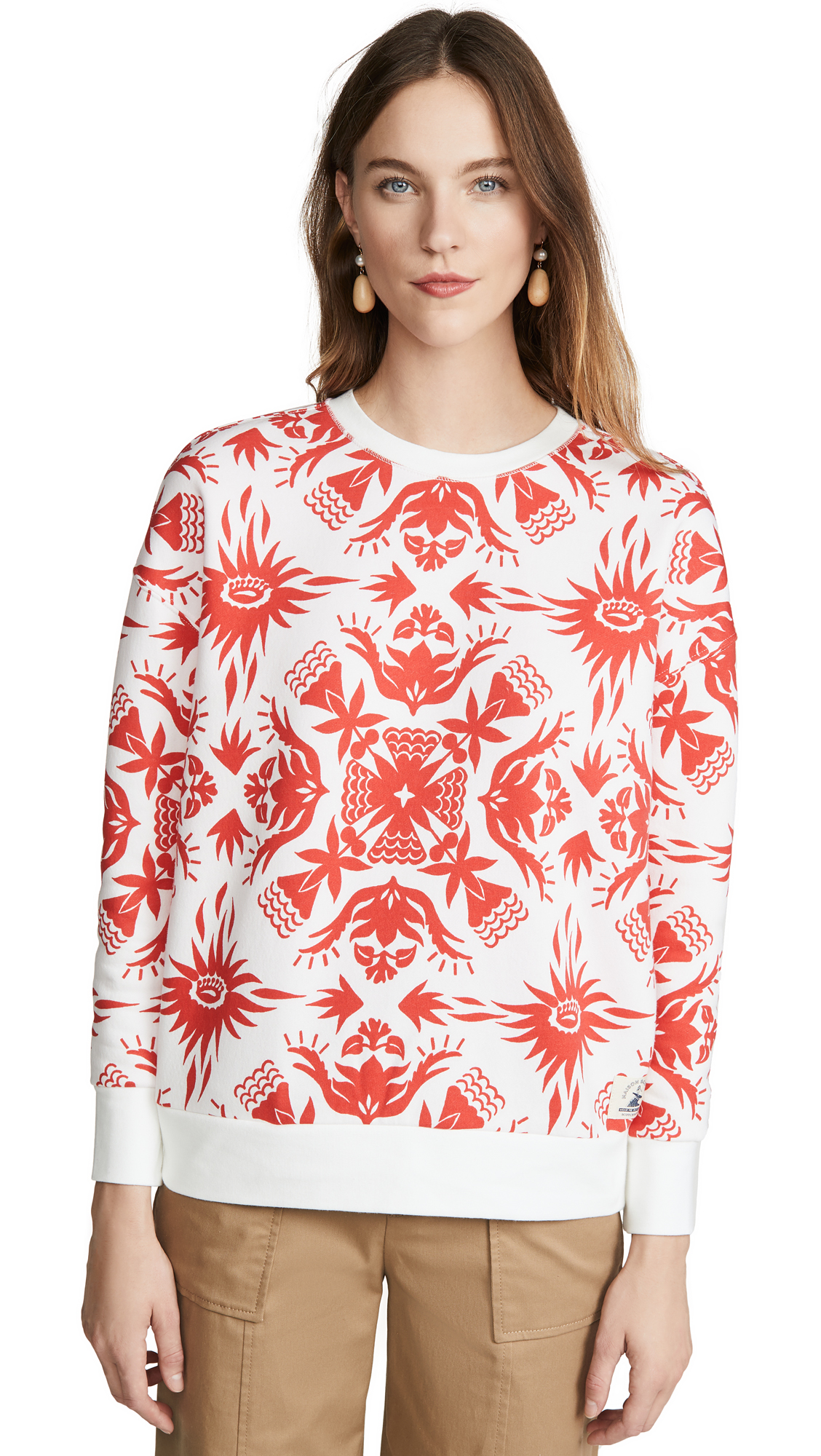 Buy Scotch & Soda/Maison Scotch online - photo of Scotch & Soda/Maison Scotch Printed Crew Neck Sweatshirt