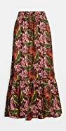 Scotch & Soda/Maison Scotch Printed Maxi Skirt