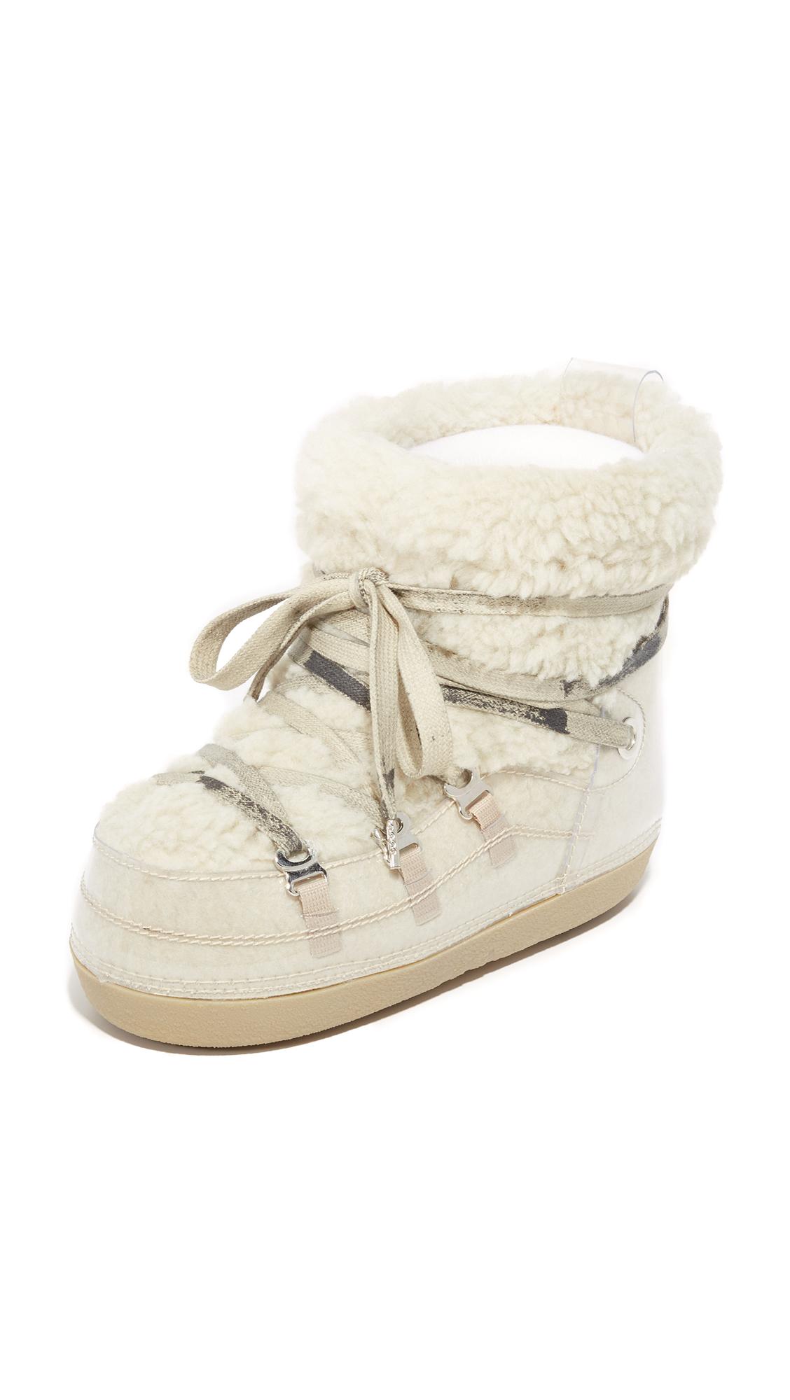 Mm6 Eskimo Sneaker Booties - Beige/Transparent
