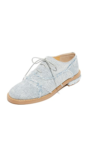 MM6 Patchwork Denim Oxfords - Super Vintage
