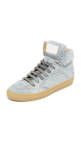 MM6 Patchwork Denim High Top Sneakers - Super Vintage