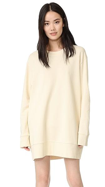MM6 Brushed Basic Sweatshirt Dress