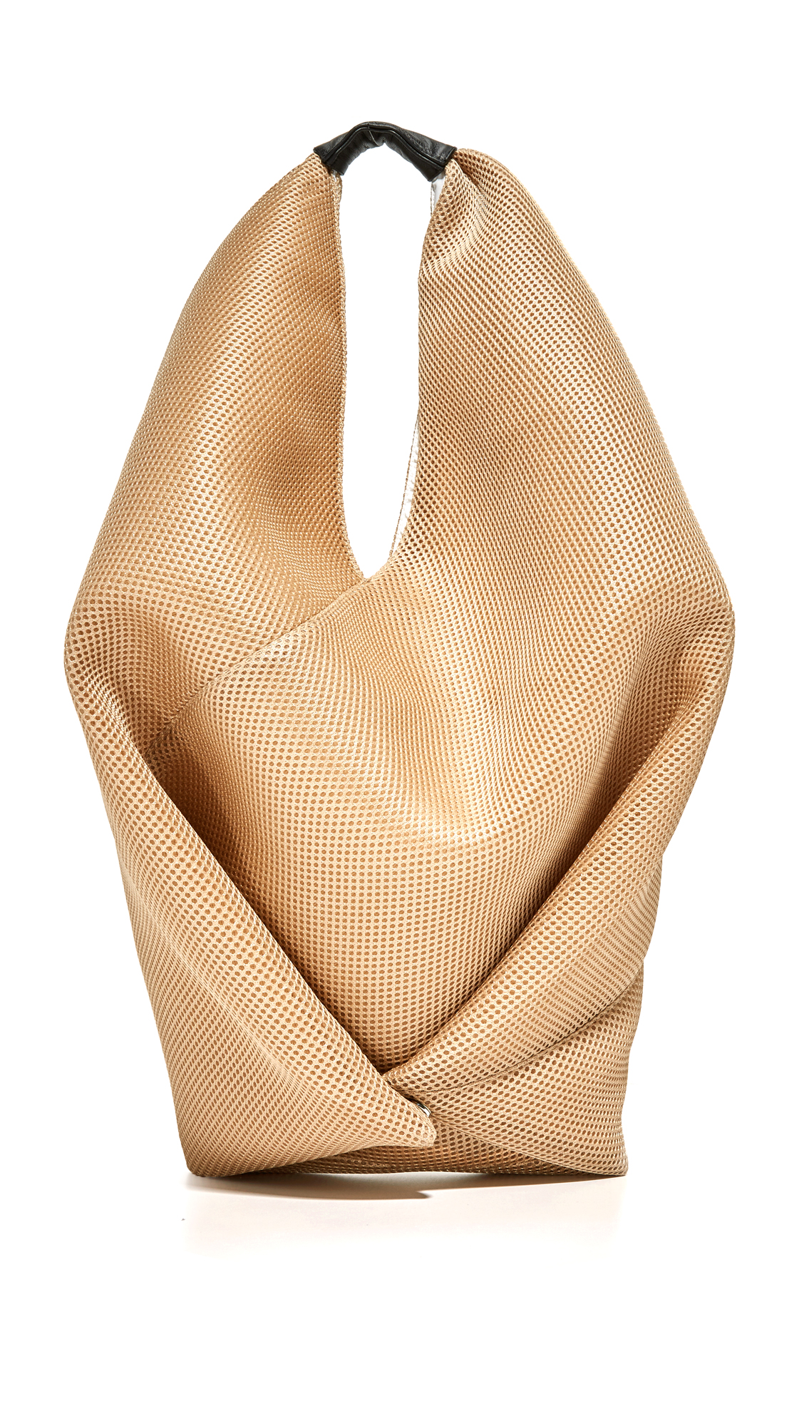 mm6 female mm6 hobo bag beige