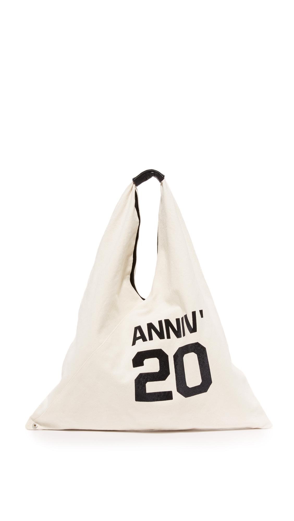 mm6 female mm6 anniversary hobo bag ecru