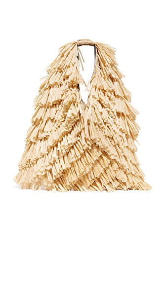MM6 Straw Hobo Bag