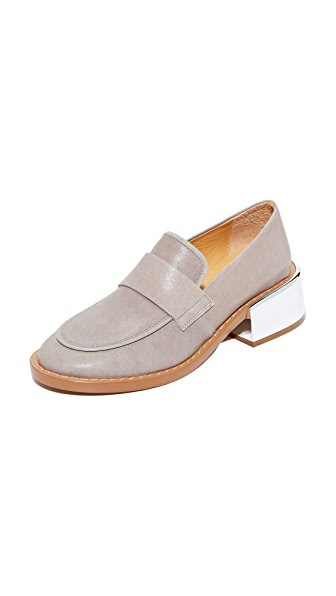 MM6 Block Heel Loafers - Grey