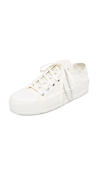 MM6 Canvas Lace Up Sneakers - White
