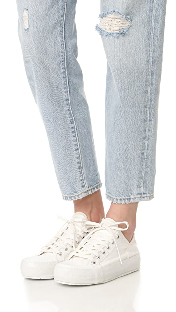 MM6 Canvas Lace Up Sneakers