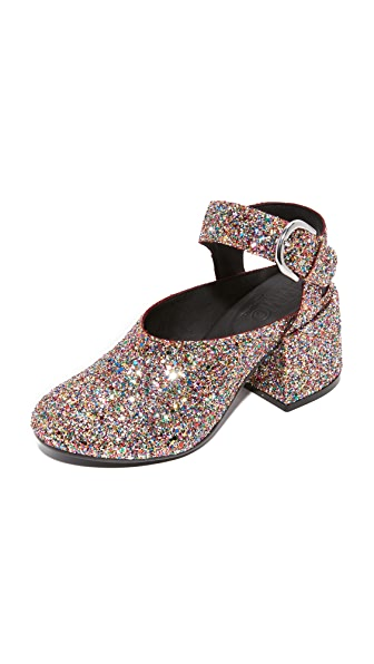 MM6 Mary Jane Flare Heels - Multicolor
