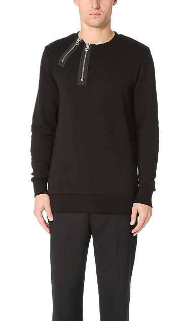 Matthew Miller Rogue Double Zip Neck Sweatshirt