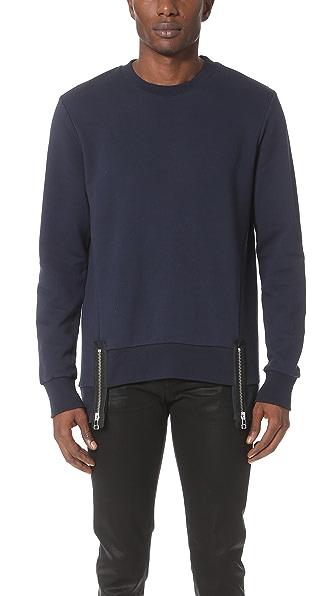 Matthew Miller Rogue Hem Zip Sweatshirt