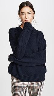 Mansur Gavriel Объемный шерстяной свитер с округлым вырезом