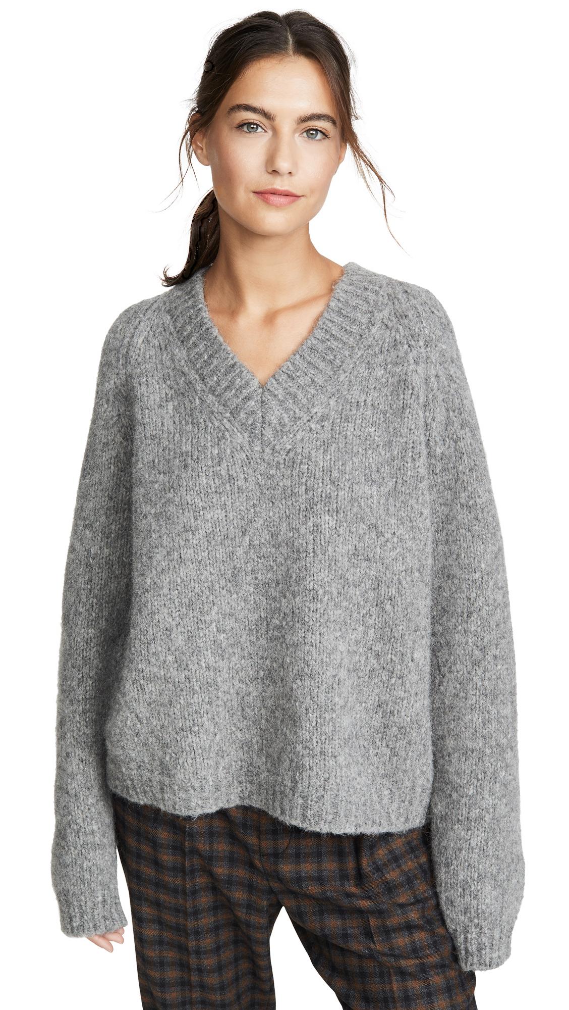 Buy Mansur Gavriel online - photo of Mansur Gavriel V Neck Alpaca Sweater