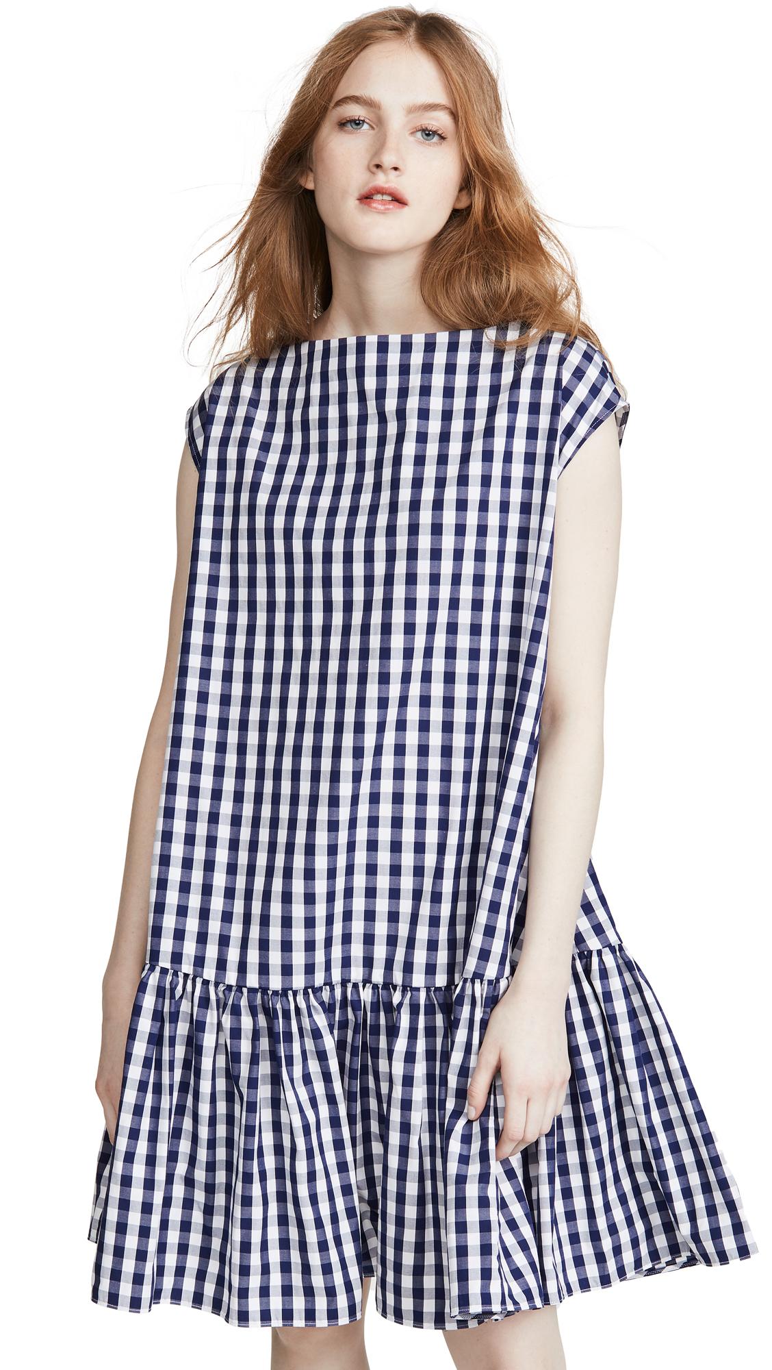 Buy Mansur Gavriel Gingham Ruched Mini Dress online beautiful Mansur Gavriel Clothing, Dresses