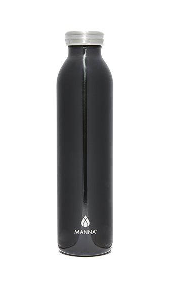 Manna 20oz Stainless Retro Water Bottle - Metallic Slate