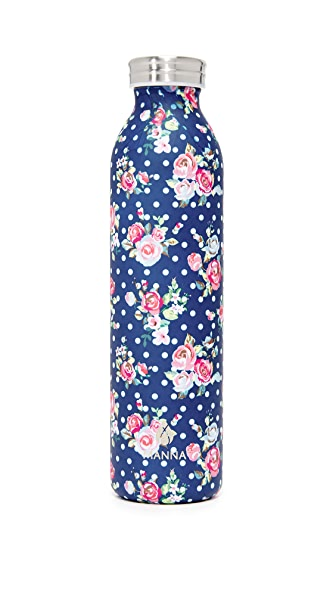 Manna 20oz Retro Air Floral Water Bottle - Blue Multi
