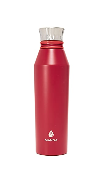 Manna 18oz Haute Water Bottle - Bright Red