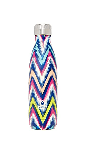 Manna 17oz Vogue Multi Zigzag Water Bottle - Multi