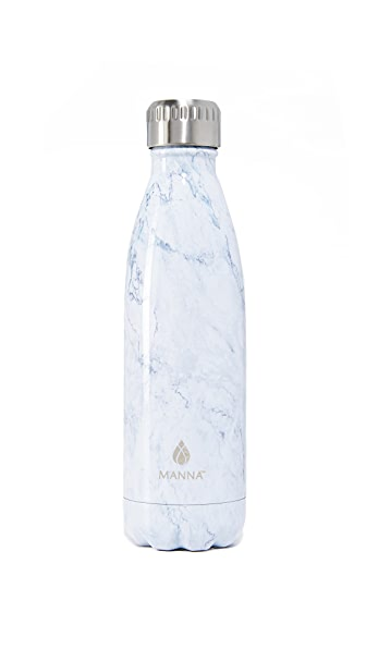 Manna 17oz Vogue Marble Water Bottle - White