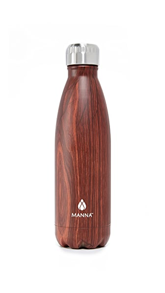 Manna 17oz Vogue Wood Water Bottle - Dark Wood