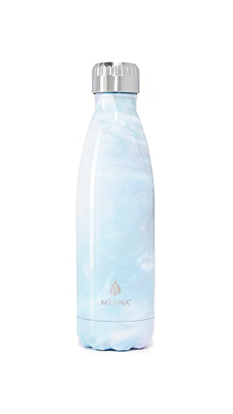 Manna 17oz Vogue Stone Water Bottle - White Stone