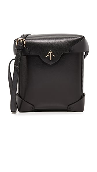 MANU Atelier Mini Pristine Box Bag - Black
