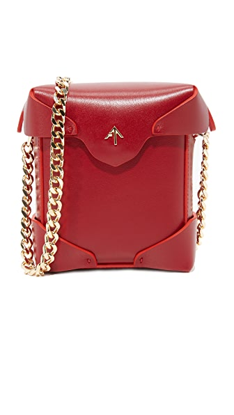 MANU Atelier Micro Pristine Box Bag - Red