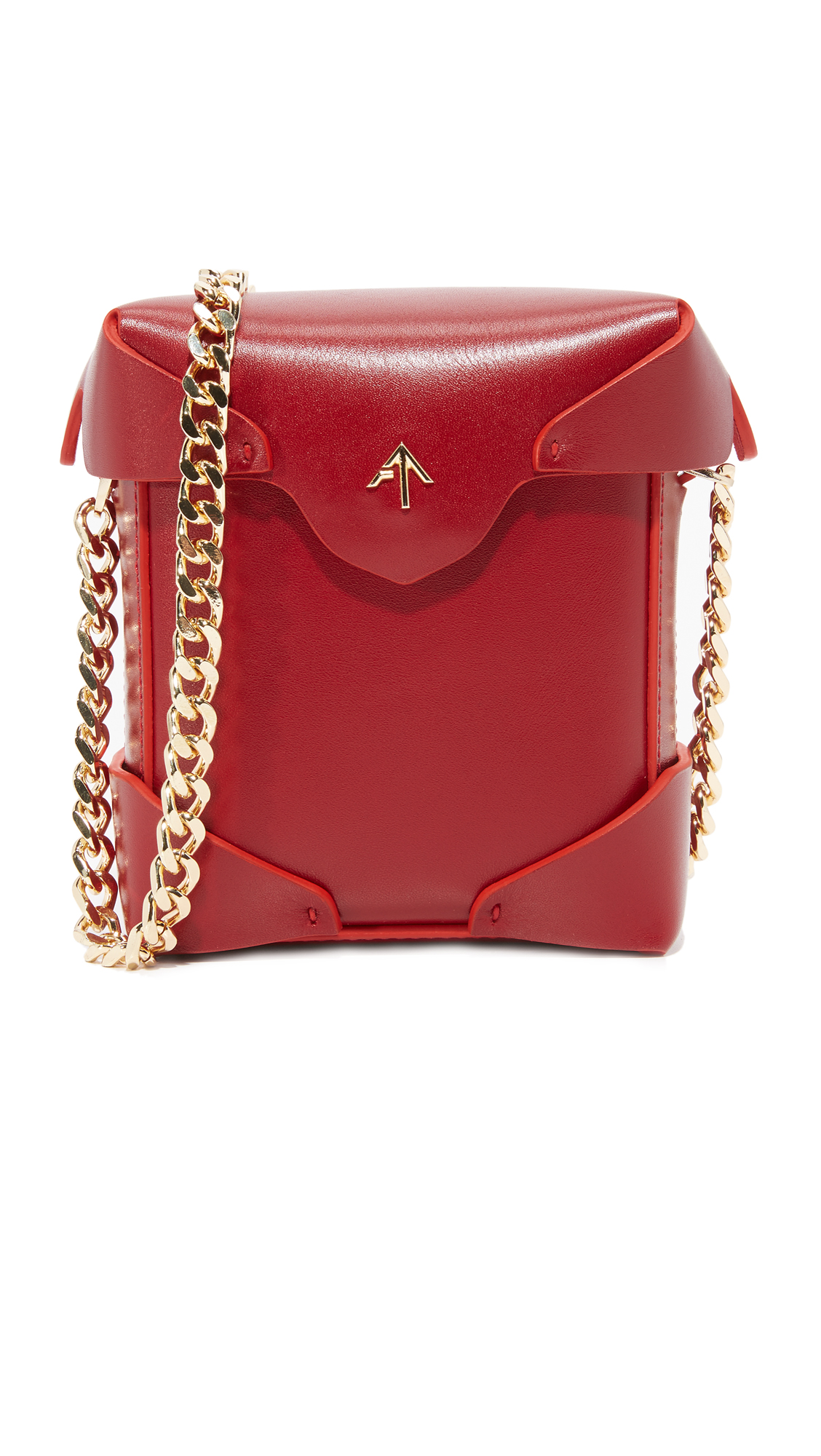 MANU Atelier Micro Pristine Box Bag - Red