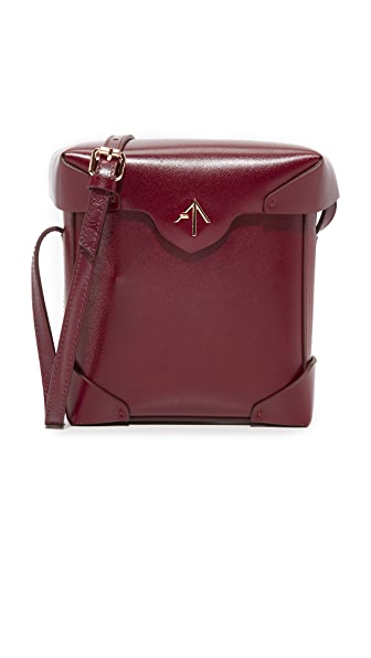 MANU Atelier Mini Pristine Box Bag - Reddish Brown