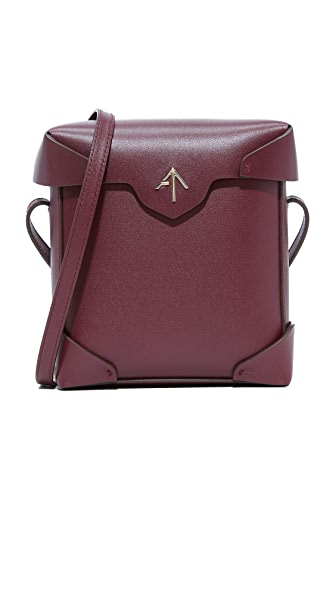 MANU Atelier Mini Pristine Box Bag - Burgundy