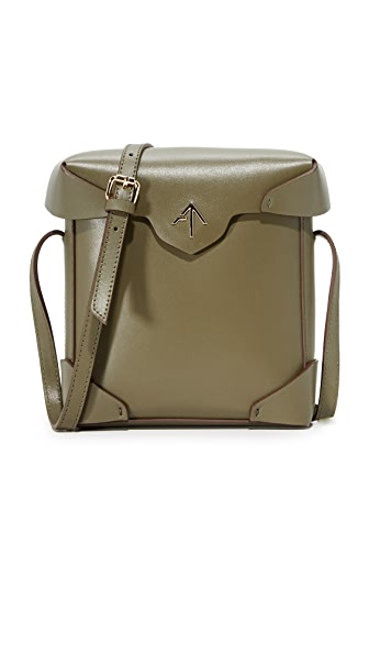 MANU Atelier Mini Pristine Box Bag - Khaki