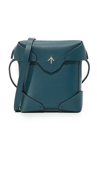 MANU Atelier Micro Pristine Box Bag - Pavone