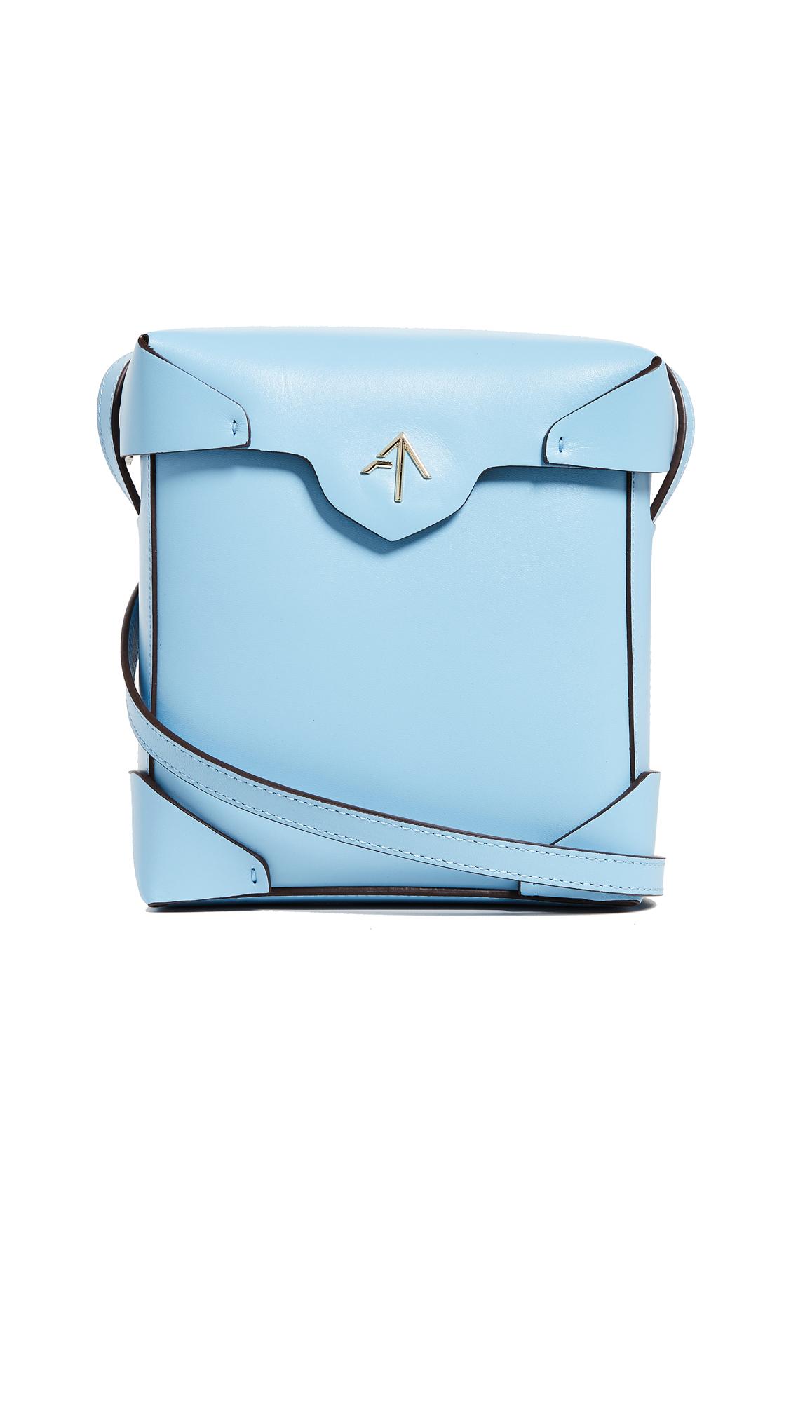 Mini Pristine Box Bag, Jeans Blue