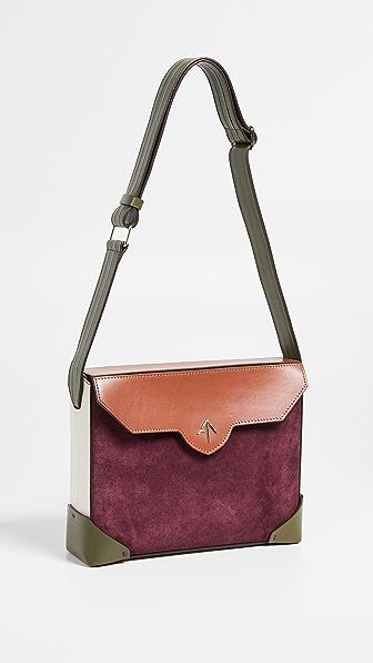 Bold Combo Shoulder Bag in Burgundy/Khaki/Redbole