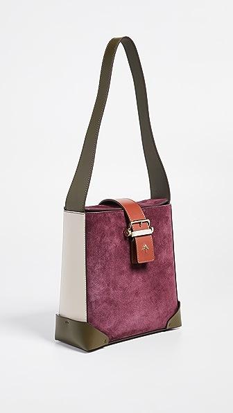 Trapeze Combo Bag in Burgundy/Khaki/Redbole