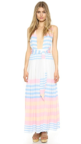 Mara Hoffman Field Stripe Crinkle Maxi Dress