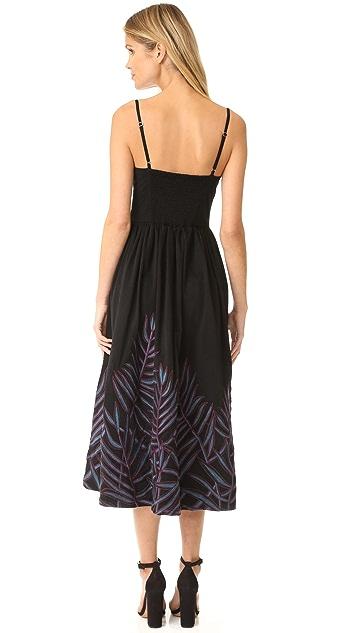 Mara Hoffman Leaf Embroidery Bustier Dress