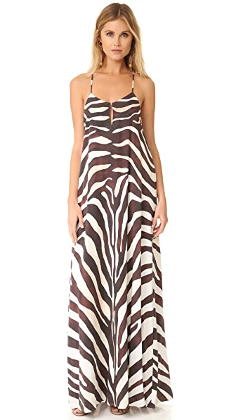 Mara Hoffman Zebra Maxi Dress - Cream Multi
