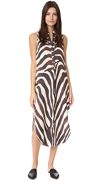 Mara Hoffman Zebra Shirtdress