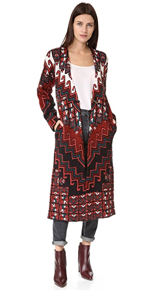 Mara Hoffman Bolnisi Rug Sweater Coat - Burgundy