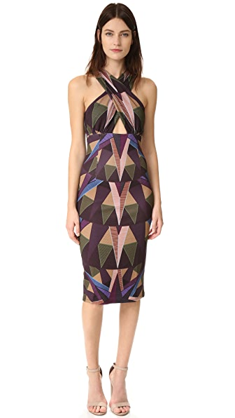 Mara Hoffman Compass Cross Front Dress - Olive